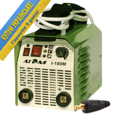 Сварочный инвертор Атом I-180M (в комплекте со штекерами)